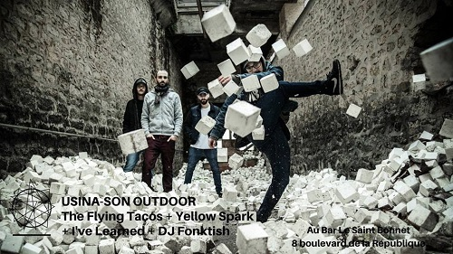 Printemps de Bourges - Usina-Son outdoor : The Flying Tacos + Yellow Spark + I've Learned + DJ Fonktish