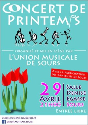 concert de printemps de l'Union Musicale de Sours