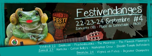 Festivendanges : The Moorings + Psychodiscotiks + The Flemish Flamingo's + Simple Com'