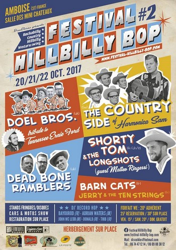 festival Hillbilly Bop : Jerry and the Ten Strings + Dead Bone Ramblers + Doel Bros. + The Country Side Of Harmonica Sam + Shorty Tom & The Longshots