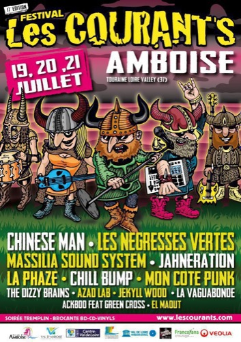les Courants : Chill Bump + Ackboo + Green Cross + les Négresses Vertes + The Dizzy Brains + Jekyll Wood