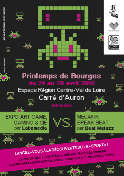 "Printemps de Bourges : Beat Matazz, ""Mecanik Break Beat"" + exposition ""Art Game, Gaming & Cie"" par Labomedia"