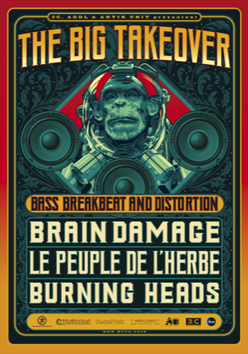Burning Heads + Brain Damage + le Peuple de l'Herbe