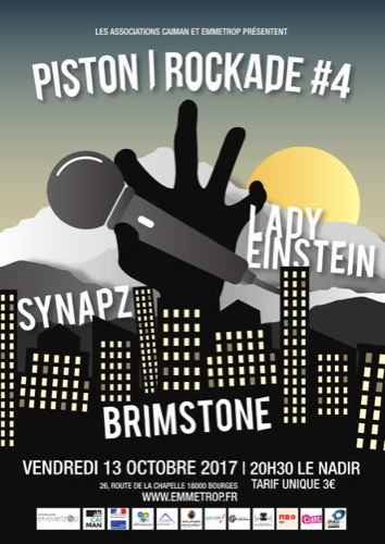 Piston/Rockade #4 : Synapz + Brimstone + Lady Einstein