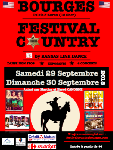 Festival Country Bourges : Martine & Hervé Canonne + Wanted Ladies + Rusty Legs + Riendanstonfolk + Backlegs