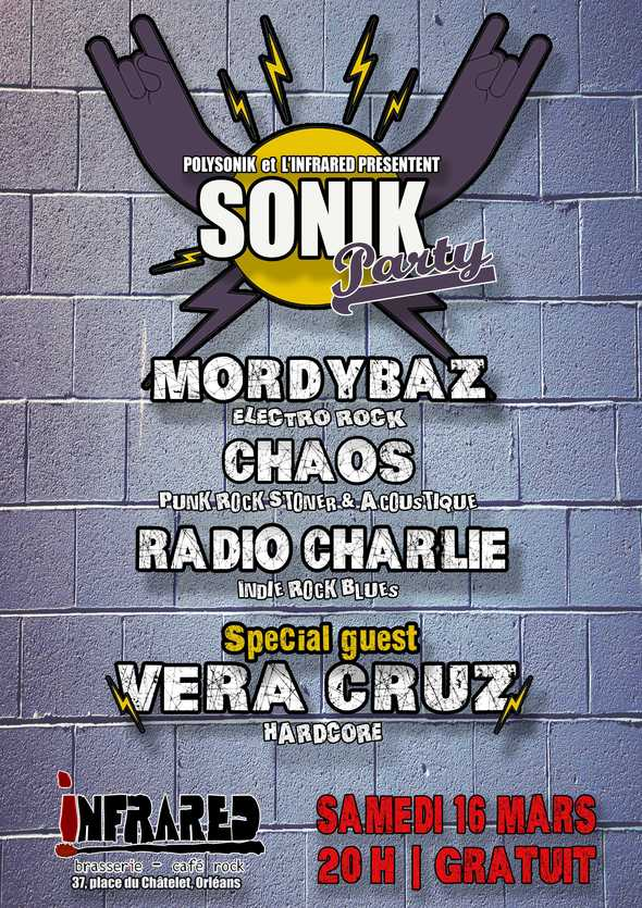 Sonik Party : Morbidaz + Chaos + Radio Charlie + Vera Cruz